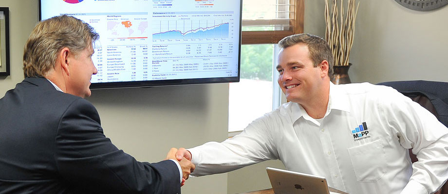 Image of MaPPs employee with client.